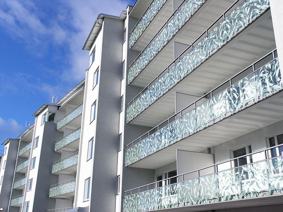 Sweco/Svenska bostäder balkonger